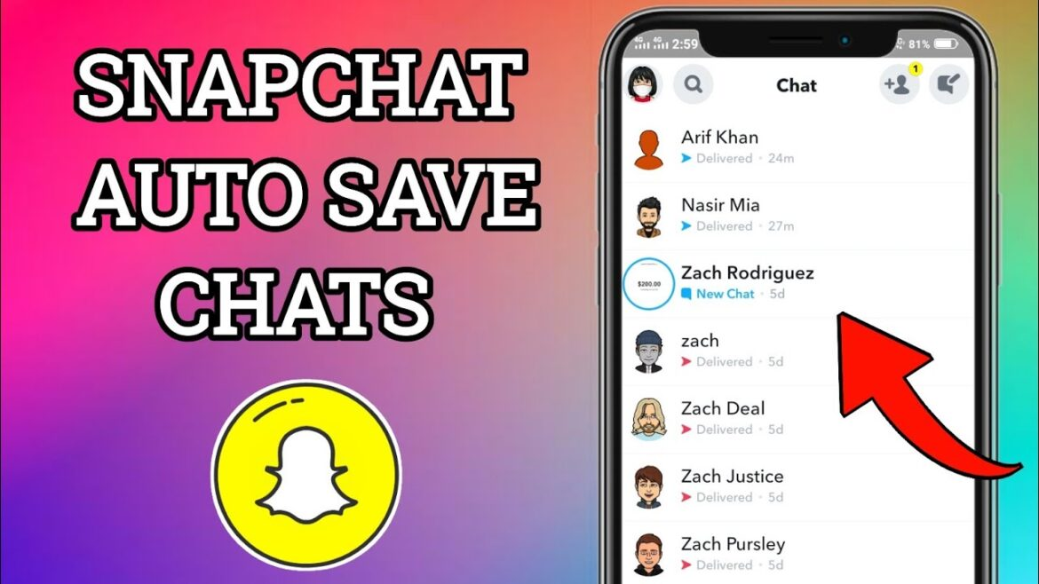 How to save all snapchat messages automatically ?